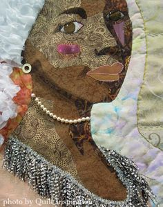 close up, Caribbean Beauty by Lucia Schnog (Curaçao).  2015 World Quilt Show.  Photo by Quilt Inspiration.
