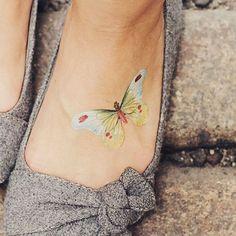 love this pretty tattoo butterfly tattoo | Tumblr