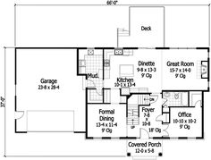 Center hall colonial  Colonial house plans and Colonial on Pinterestcenter chimney colonial floor plans   Plan W RK  Center Hall Colonial