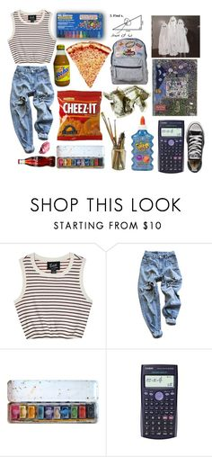 """school days get longer"" by chasingreality ❤ liked on Polyvore featuring Edith A. Miller, Levi's, Casio, Converse and OPI"
