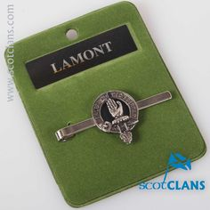 Lamont Clan Crest Tie Slide. Free worldwide shipping available