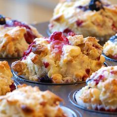 A delightful blueberry muffin recipe.. Blueberry Almond Muffins Recipe from Grandmothers Kitchen.