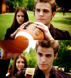nina dobrev and paul wesley on set  | boy, elena, girl, nina dobrev, paul wesley - inspiring picture on ...