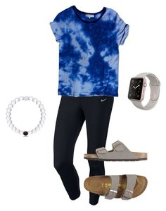"""Simple Day Out"" by taylortraywick on Polyvore featuring NIKE, Sandro and Birkenstock"