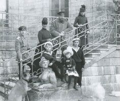Alexander III with his family in Gatchina.
