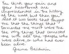 .JAMES BALDWIN on the reading=writing connection in his life