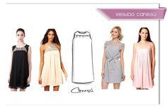 Cortes y formas de vestidos más usadas en confección