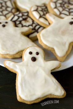 Healthier Halloween Sugar Cookies – just as delicious as the more traditional kind