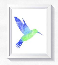 80%OFF humming-bird print bird wall art humming bird