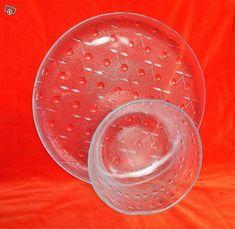 Kirsi tarjoiluvati ja salaattikulho Alcoholic Drinks, Retro, Rose, Glass, Vintage, Eggs, Pink, Drinkware, Corning Glass