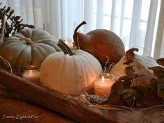 Dough Bowl Centerpiece - Thanks mom for antique dough bowl now I can make a goregous fall centerpiece Harvest Decorations, Thanksgiving Decorations, Seasonal Decor, House Decorations, Thanksgiving Table, Wooden Dough Bowl, Wooden Bowls, Autumn Decorating, Decorating Ideas