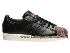 Chaussures Superstar 80'S Métal Noir Femme Noir 43 13