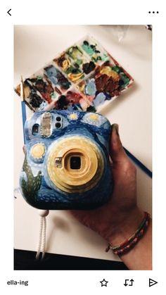 for more like this - lastik Polaroid Camera Case, Instax Camera, Camera Art, Vintage Polaroid Camera, Mini Camera, Camera Painting, Diy Painting, Hydro Painting, Fujifilm Instax Mini