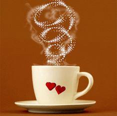 Love for Coffee heart coffee coffee gif i love coffee animated coffee Coffee Heart, I Love Coffee, My Coffee, Coffee Drinks, Coffee Shop, Coffee Cups, Tea Cups, Coffee Gif, Good Morning Coffee