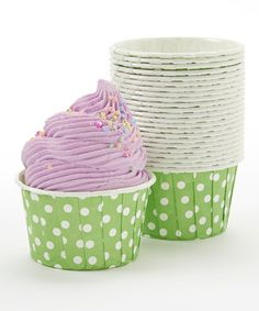 Another great find on #zulily! Green Polka Dot Bake Cup - Set of 24 by Expect Personality #zulilyfinds