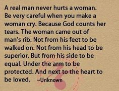 What if she is hurt twice by the man? There were tears the first time.. but not the second, as I knew it was coming..