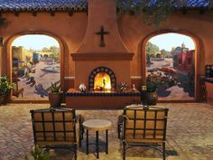 This mural set by Artefino brings some Mexican flavor to your own patio decor.