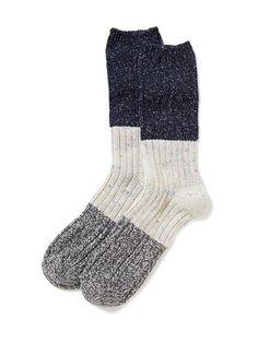 Tri-Color Trouser Socks for Women