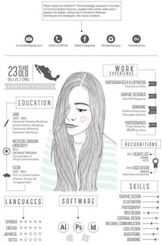 Best Creative Resume Design Infographics Best collection of resume designs 2015 for all. Examples of CV and curriculum vitae samples for all freshers and experienced. Cv Inspiration, Graphic Design Inspiration, Graphic Design Projects, Graphisches Design, Logo Design, Creative Cv Design, Design Ideas, Design Trends, Creative Ideas