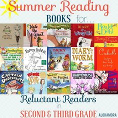 A Summer Reading Book List for Reluctant Readers aka Kids Who Don't Like to Read… 2nd Grade Books, 3rd Grade Reading, Kids Reading, Shared Reading, Bob Marley, Realistic Fiction, Reluctant Readers, Summer Reading Lists, Reading Rainbow
