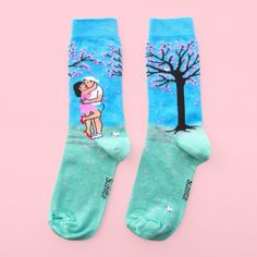 Date under the Cherry Tree Socks - Coucou Suzette