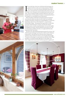 These Barbican Pendants were made specially with burgundy twisted cable to suit the colour of the Wisdom's dining room.