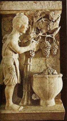 1196-1200, Antelami, Il calendario di pietra: settembre     ?????????????