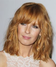 Kelly Reilly - Casual Medium Wavy Hairstyle
