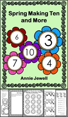 Spring Making Ten and More Kindergarten Math Activities***Spring Number Combinations for Ten and More Kindergarten Math Activities***14 Activities focusing on many Common Core Kindergarten Math Standards. Includes sequencing my size and height, counting on, patterns, number before and after, making ten, word problems, writing equations, addition and subtraction worksheets, sorting. Common Core: KCC2, KCC4, KOA1, KOA2, KOA3, KOA4, KOA5, KMD1, KMD2, KMD3.