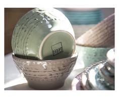 Set di 6 piatti fondi/da zuppa in stoneware verde Courtyard - d 15 cm   Dalani Home & Living