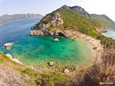 Porto Timoni, Corfu, Ionian Islands Corfu Beaches, Myrtos Beach, Famous Beaches, Nature Water, Crystal Clear Water, Big Island, Capital City, Greek Islands, Oh The Places You'll Go