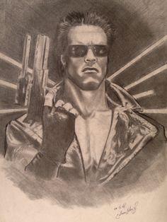 """Arnold Schwarzenegger as """"Terminator"""" 1984."""