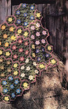Winter Flowers Afghan Crochet Pattern - Beautiful
