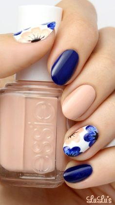 Sweet Blue Nails Ideas that Make Cool and Calm Appearance 85
