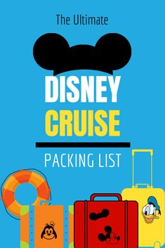 We've created The ULTIMATE Disney Cruise Packing List + Info on Pirate Night! This is the BEST list for families and it includes a FREE printable to make packing easy! Packing List For Disney, Packing For A Cruise, Cruise Travel, Packing Tips, Cruise Vacation, Vacation Travel, Disney Travel, Texas Travel, Disney List