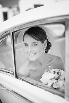 style me pretty - real wedding - australia - australia wedding - bride & groom - getaway car