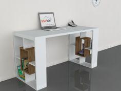Valancia Çalışma Masası Beyaz-Ceviz 199,00 TL