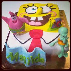 Spongebob squarepants cake Birthday cake www.lallabycakes.blogspot.it