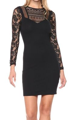 dec6b411df5 French Connection NEW Black Women s Size 4 Mia Beau Lace Bodycon Dress  148   463