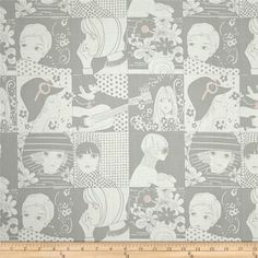Alexander Henry Blak & White Chelsea Grey & Tea from @fabricdotcom  Designed by the De Leon Design Group for Alexander Henry, this fabric is perfect for quilting, apparel and home decor accents. Colors include grey and white.