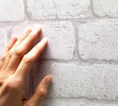 This is WALLPAPER !!! White old bricks wallpaper by KOZIEL (superior quality). Made in France.