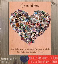 GRANDMOTHER Gift Mothers Day For Nana Baba Grandma Birthday Heart MOM