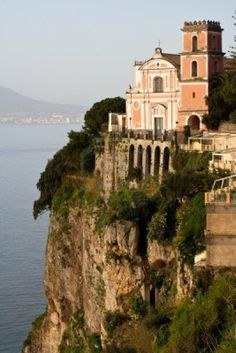 Cliff-top church ~ Amalfi Coast, Italy ~ photo by Danilo Ascione Places Around The World, Oh The Places You'll Go, Places To Travel, Places To Visit, Around The Worlds, Beautiful World, Beautiful Places, Place Of Worship, Amalfi Coast