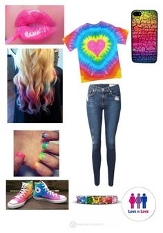 gay pride outfit by lizzybunny18 on Polyvore featuring rag & bone, Converse and CellPowerCases