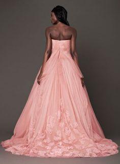 Vestito rosa di Vera Wang bridal inverno 2014