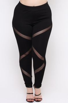 Plus Size Generation X Leggings - Black