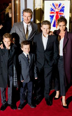 Guess which designer the Beckham boys are ALL wearing? http://www.eonline.com/news/370819/adorable-alert-the-beckham-family-wears-burberry