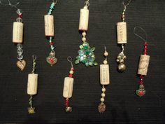 Wine cork Handmade Christmas Ornaments   so happy with the way these turned out that I will be taking these ...