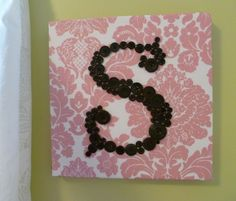 Button Monogram - Could use any color(s) and pattern.