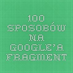 100 sposobów na Google'a - fragment Periodic Table, The 100, Periodic Table Chart, Periotic Table
